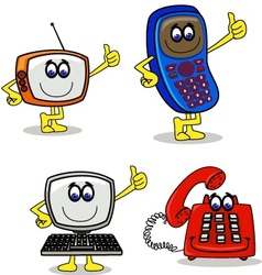 electronic cartoon character vector image