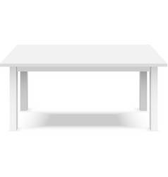 Empty top of white plastic table isolated on white vector image vector image