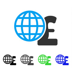 Global pound finances flat icon vector