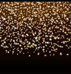 Golden stars of confetti carnival vector