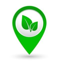 Green leaf icon vector