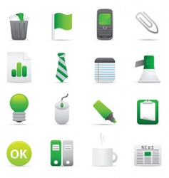 green office icons vector image vector image