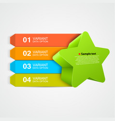 green star infographics concept vector image vector image