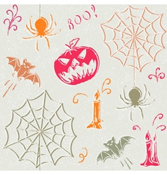 Grunge Halloween seamless pattern vector image vector image