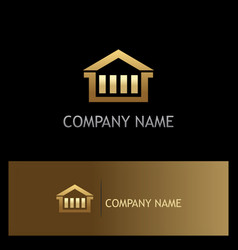 house business gold logo vector image vector image