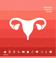 Human organs female uterus icon vector