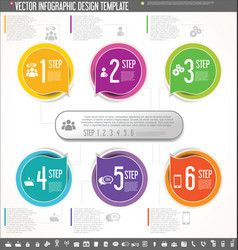 Infographic design template colorful design 1 vector
