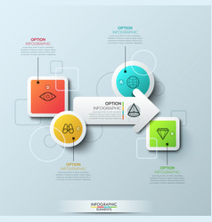Infographic design template with elements of vector