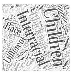 Interracial relationships word cloud concept vector