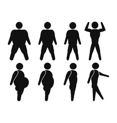 Man From Fat to fit vector image vector image