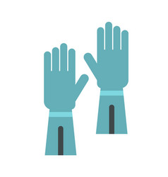rubber gloves for hand protection icon flat style vector image