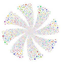 Snowflake fireworks swirl rotation vector