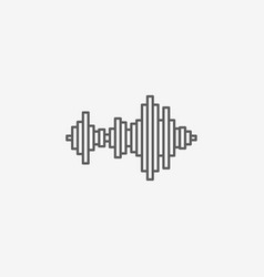sound wave music icon vector image vector image
