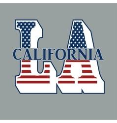 Sport T-shirt Design with letters LA vector image vector image