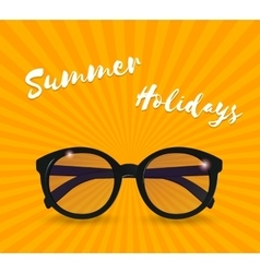 Sunglasses realistic icon Summer background vector image