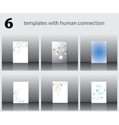Templates with human connection vector