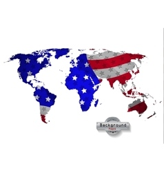 The world map USA with white background and all vector image