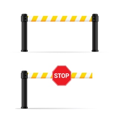 Toll booth on road safety vector