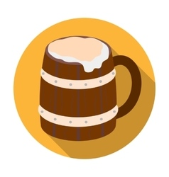 Viking ale icon in flat style isolated on white vector