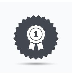 Winner medal icon award emblem sign vector