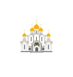 Russian cathedral church flat vector