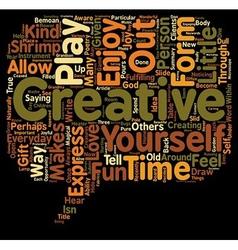 Everyday creativity text background wordcloud vector