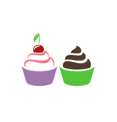 cupcake vector image
