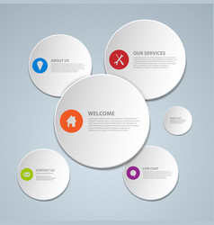 abstract web page template made from circles vector image