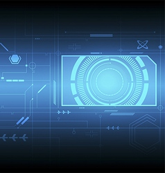 Interface technology background vector