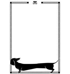 Frame with dog vector