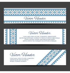 Header or banner design template vector