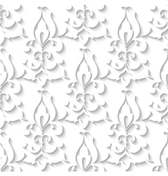 Elegant paper retro floral seamless pattern hand vector