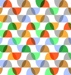 Retro colorful geometric seamless pattern vector image