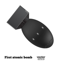 The atomic bomb isolated on a white background vector