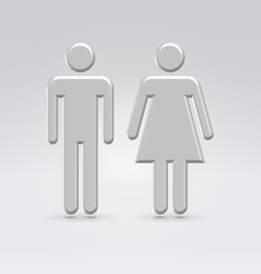 Silver person couple icon vector
