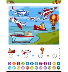 Maths activity for kids vector