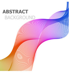 abstract background with colorful line wave vector image vector image