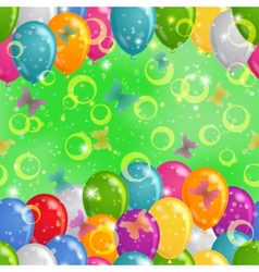 Balloon background seamless vector image vector image