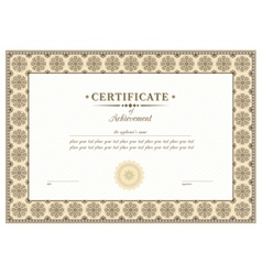 Braun certificate vector