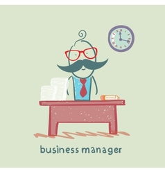 business manager at his workplace vector image vector image