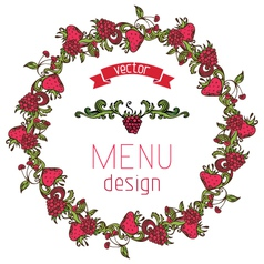 Circle menu design vector image vector image
