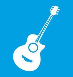 Classical guitar icon white vector