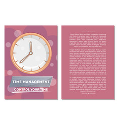 control your time poster with round clock vector image