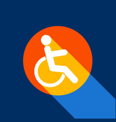 Disabled sign white icon on vector