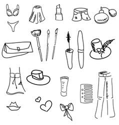 Drawn womans stuff vector