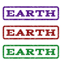 earth watermark stamp vector image