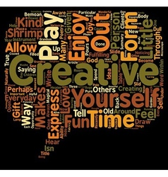 Everyday creativity text background wordcloud vector