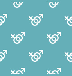 female and man gender symbol pattern seamless blue vector image vector image