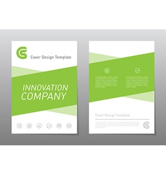 flyer design template Green annual report brochure vector image