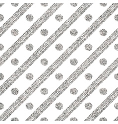 Geometric seamless silver pattern of diagonal vector
